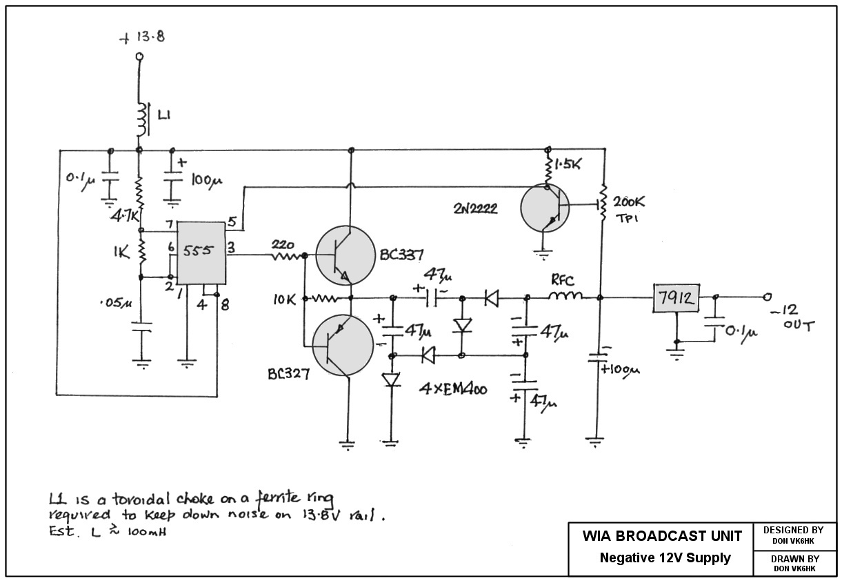 Vk6wia News Broadcast Transceiver Circuits Fet Preamp With Tone Control By 2n3819 Power Supply