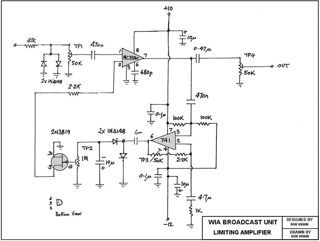 Peak Limiter Amplifier Schematic Trusted Wiring Diagram Highgainamplifier Amplifiercircuit Circuit Seekiccom Vk6wia News Broadcast Transceiver Circuits