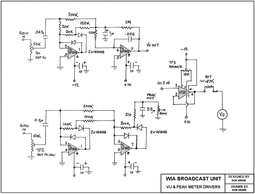 Vk6wia News Broadcast Transceiver Circuits Single Chip Fm Transmitter Circuit Diagram Vu Meter Driver